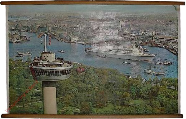 [SS 'Rotterdam' (Holland Amerka Lijn) aan de Wilhelminakade]
